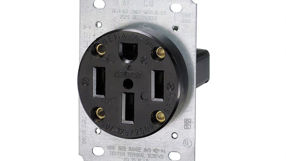 Nema 14 50 Receptacle For 240v 50 Amp Charg Coin